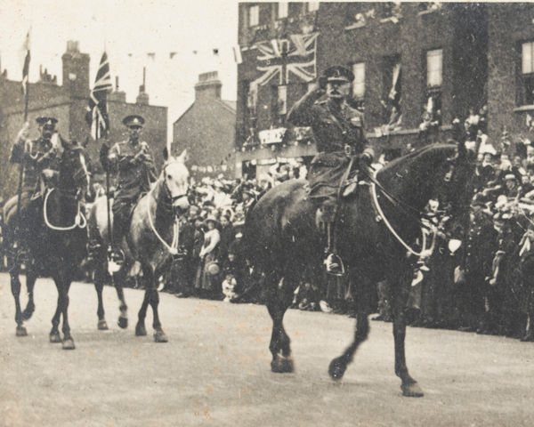Field Marshal Sir Douglas Haig at the Victory March, London, 1919