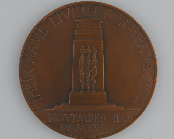 Medal commemorating the unveiling of the Cenotaph in Whitehall, 11 November 1920