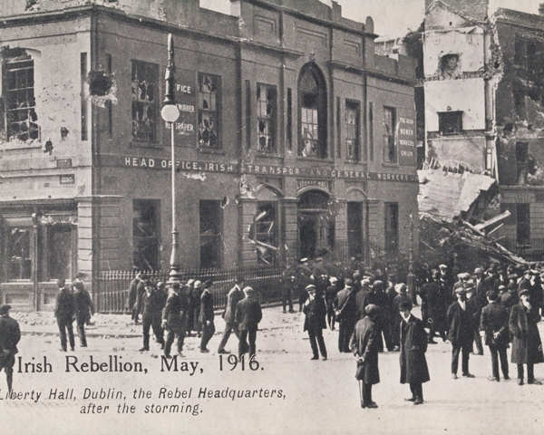 The ruins of Liberty Hall, headquarters of the Irish Citizen Army, May 1916