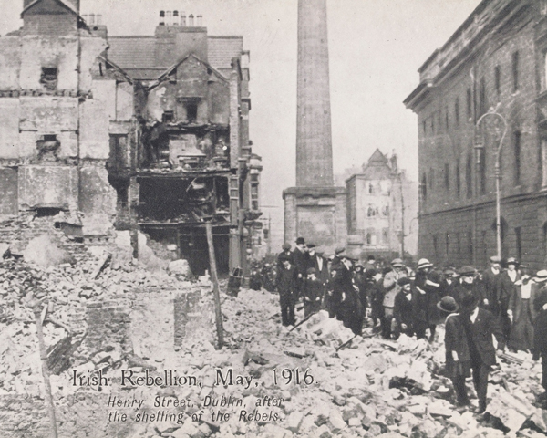 Henry Street, Dublin, after the shelling of the Rebels, May 1916