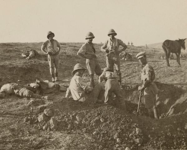 British soldiers burying Turkish dead near Beersheba, November 1917