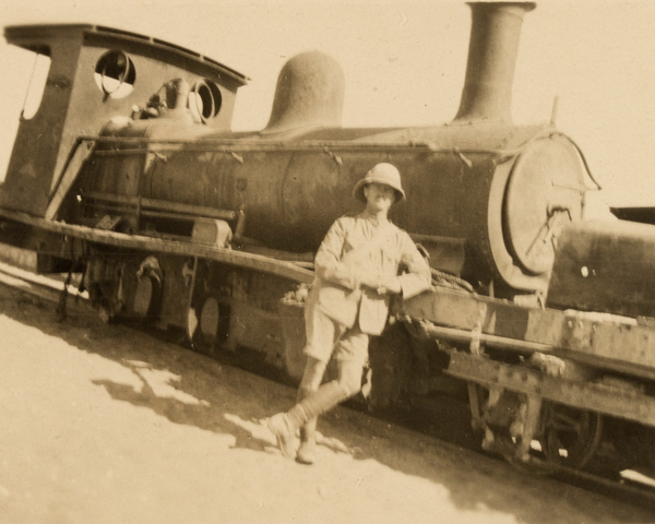 An engine of the desert railway, 1916
