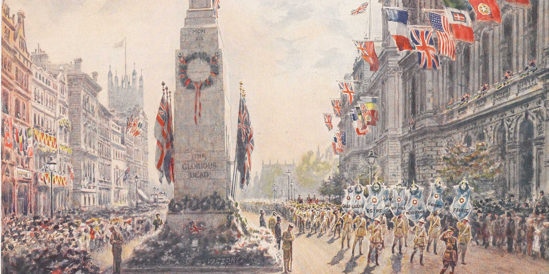 The Cenotaph in Whitehall, 1919