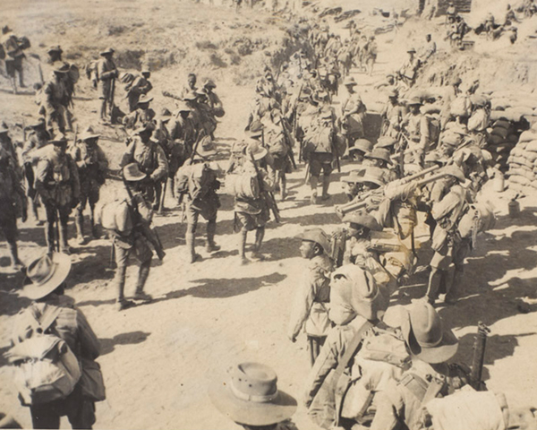3/3rd Queen Alexandra's Own Gurkha Rifles gathered in Welsh Wadi prior to the advance on Gaza, 1917