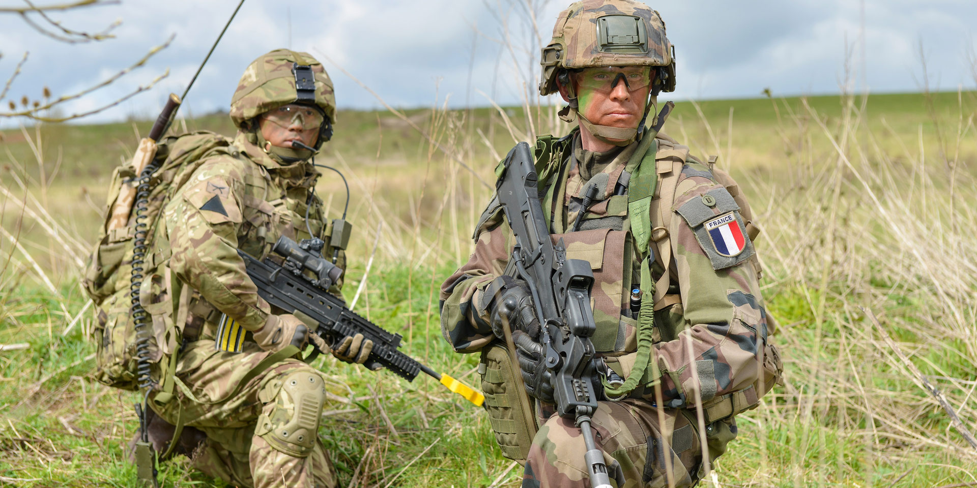 British and French soldiers work together to hold a vital crossing point, 2016