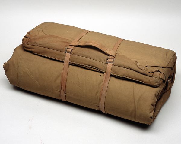 Sleeping bag used in Malaya by General Templer, c1952