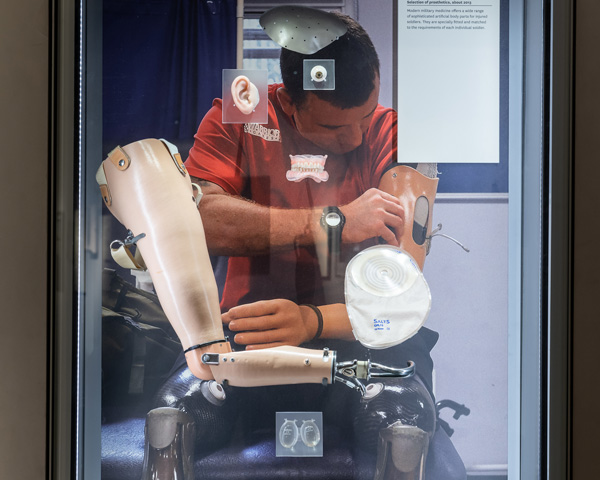 Prosthetics display in Soldier gallery