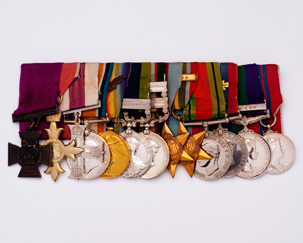Victoria Cross awarded to Lieutenant-Colonel Arthur Cumming for his bravery at Kuantan, Malaya, on 3 June 1942