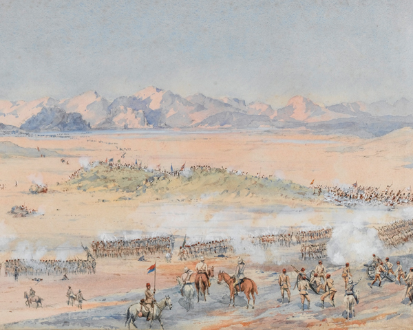 Advance of the 9th and 10th Sudanese Battalions of the Egyptian Army at the Battle of Toski, 3 August 1889