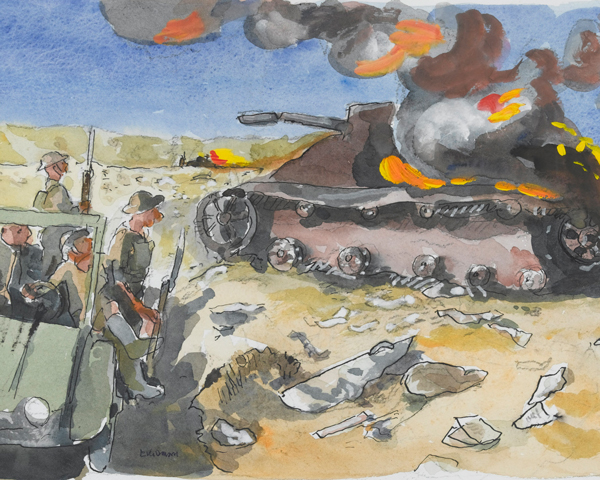The Battle of Sidi Rezegh, Libya, 1941