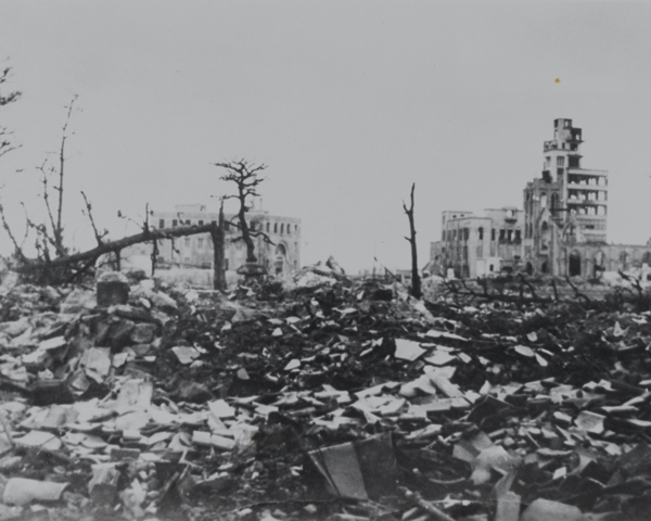Hiroshima after the atomic bombing, August 1945