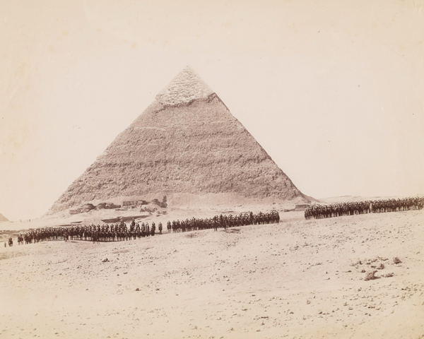 19th Hussars formed up at Giza, Egypt, 1882