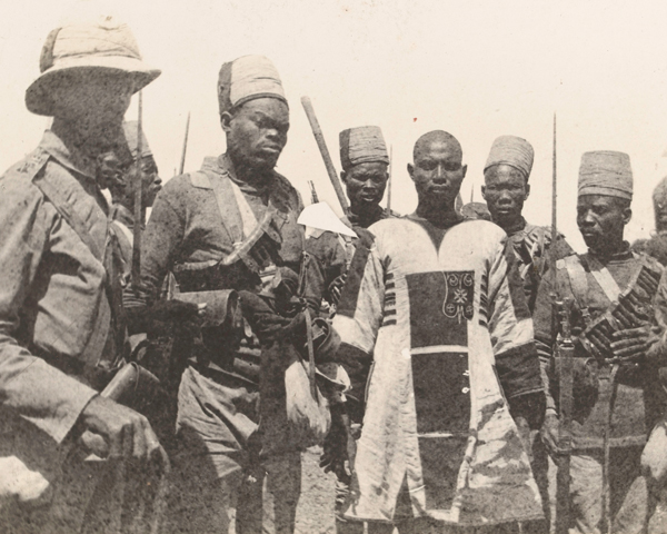 Emir Mahmud captured at the Battle of Atbara, April 1898