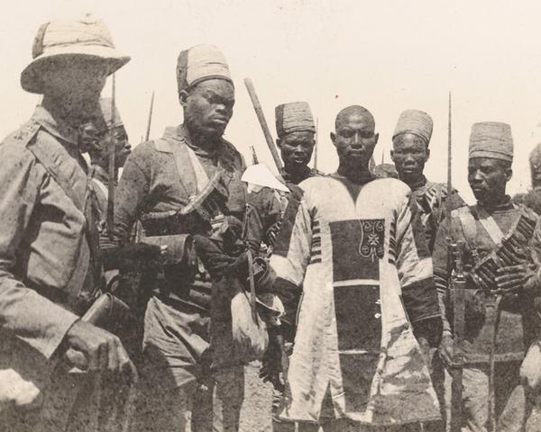 Emir Mahmud captured at the Battle of Atbara, April 1898