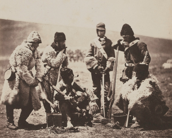 Soldiers of the 77th (East Middlesex) Regiment of Foot with new winter kit, 1855