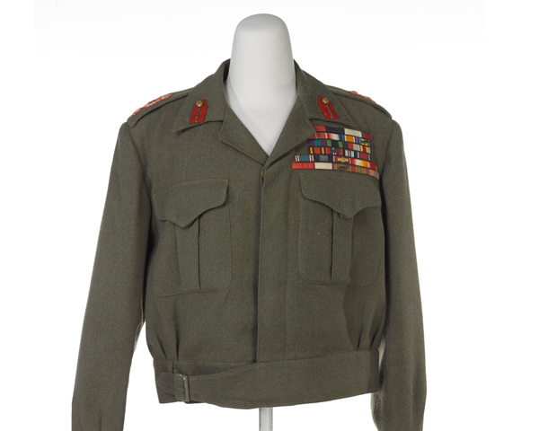 Battle dress blouse worn by Field Marshal Sir Claude Auchinleck, Commander-in-Chief in India, c1946