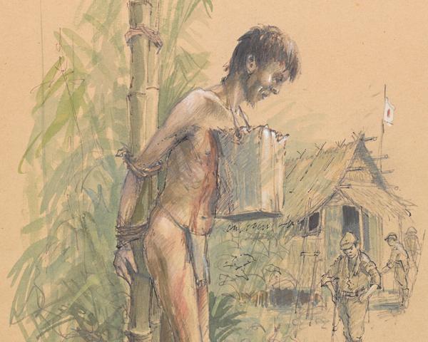 Punishment at Ban Pong Camp, Thailand, 1943
