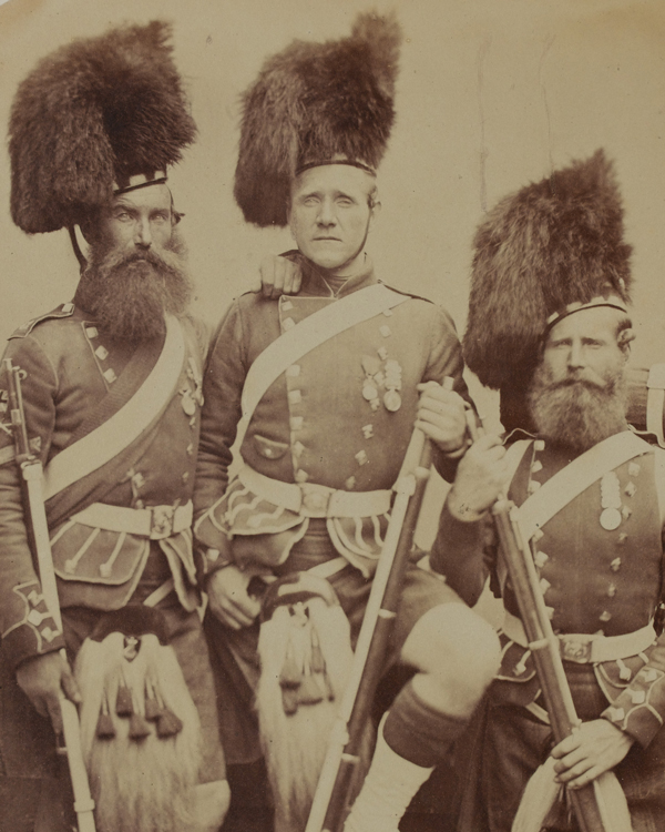 Crimean veterans of the 42nd (The Royal Highland) Regiment, 1856