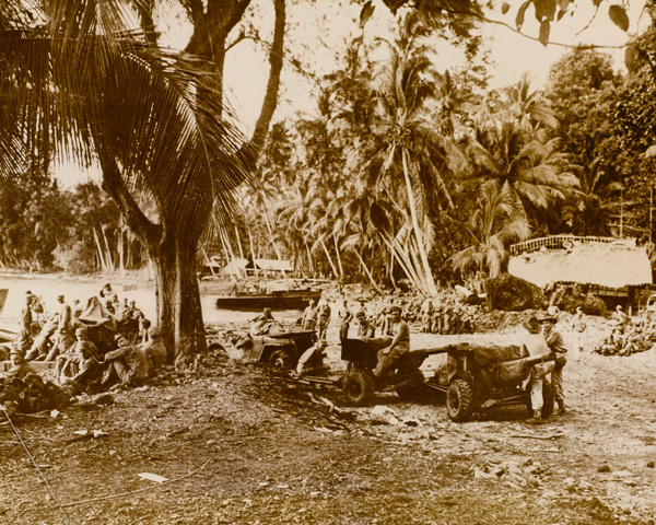 New Zealand troops on Vella Lavella in the Solomon Islands, August 1943