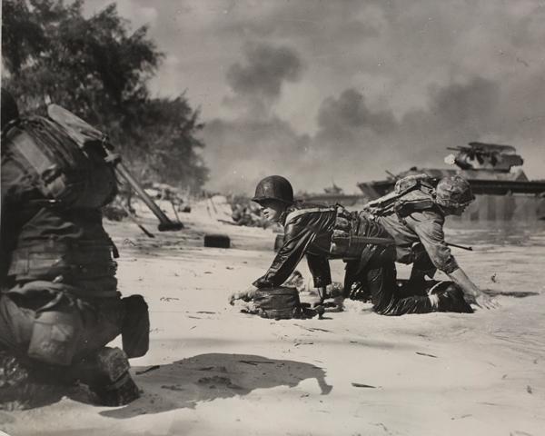 US Marines landing on Saipan, 24 June 1944