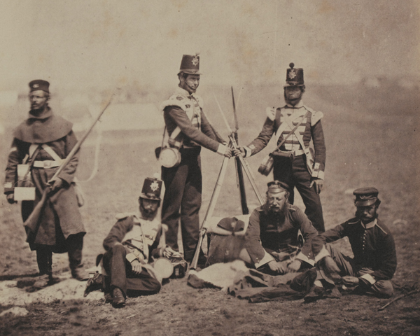 Officers and men of the 3rd (East Kent) Regiment of Foot (The Buffs), 1855