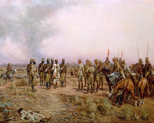 Major-General Herbert Kitchener meets the Emir Mahmud at Atbara, April 1898