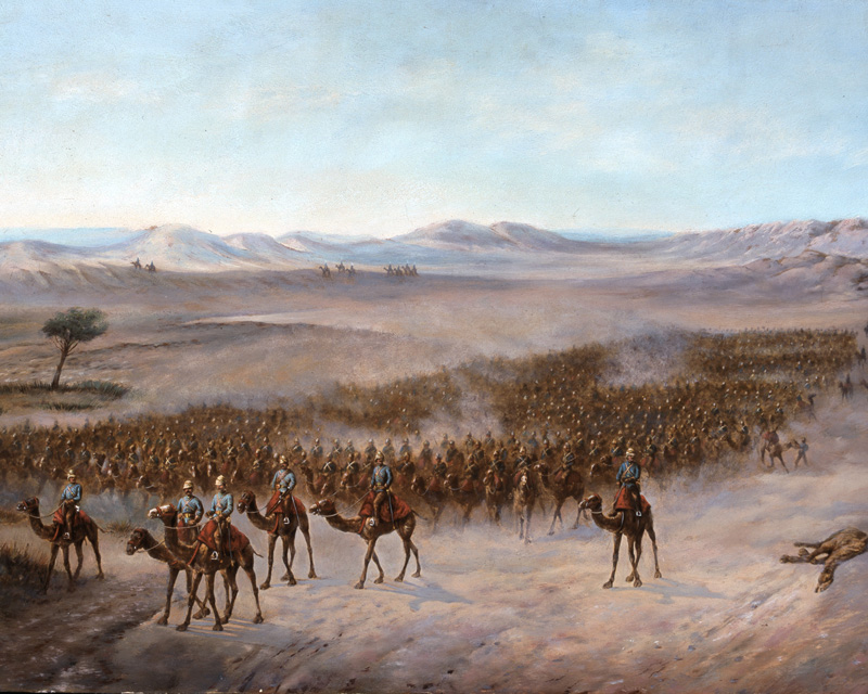 Brigadier Sir Herbert Stewart's column crossing the Bayuda Desert, 1885