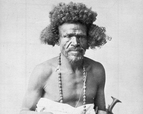 Beja tribesman from eastern Sudan, c1885