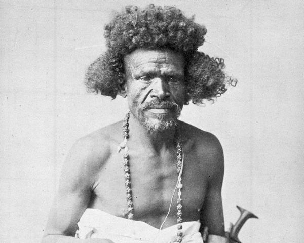 Beja tribesman from eastern Sudan, c1885