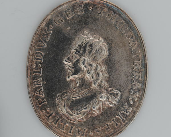 Badge awarded to Sir Thomas Fairfax as the first commander of the New Model Army by Parliament and the City of London, 1645