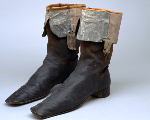 Prince Menshikov's boots captured at the Alma, 1854