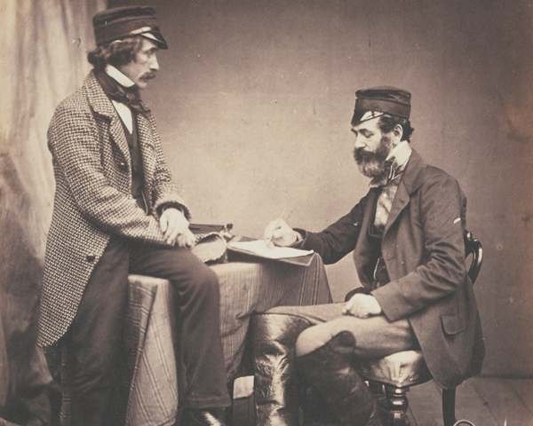 Dr Sutherland and Robert Rawlinson of the Sanitary Commission, 1855