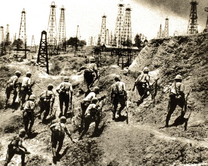 Japanese troops secure Burma's oil fields, 1942
