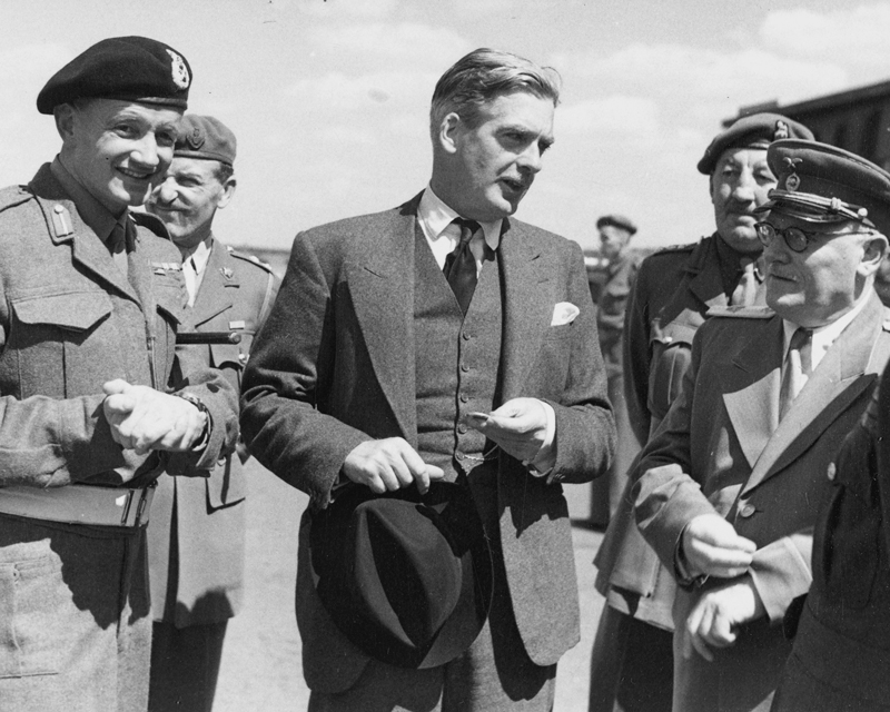 Sir Anthony Eden, British prime minister during the Suez Crisis, pictured in Berlin in 1945