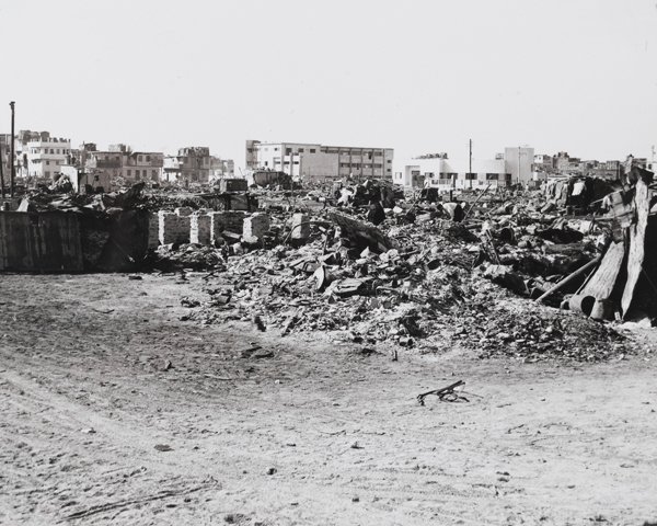 Buildings damaged by the naval bombardment of Port Said, 1956