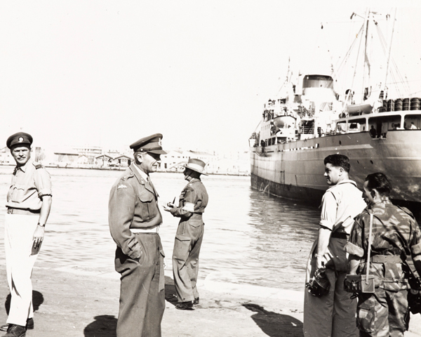 Lieutenant General Sir Hugh Stockwell, commander of the Anglo-French ground forces at Port Said, 1956