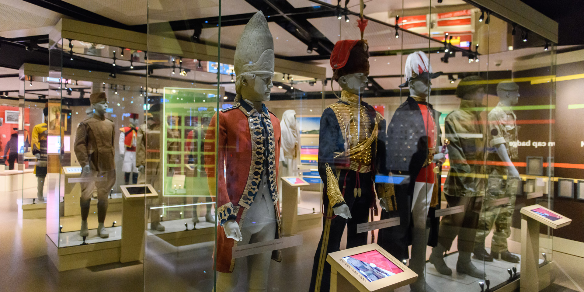 Uniforms display in Army gallery