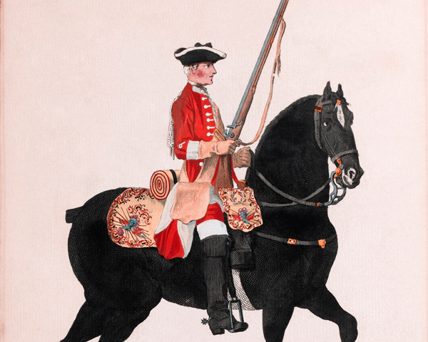11th Regiment of Dragoons, c1742