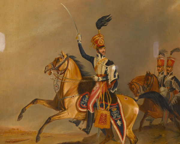 Officer of the 15th Light Dragoons (Hussars), 1825