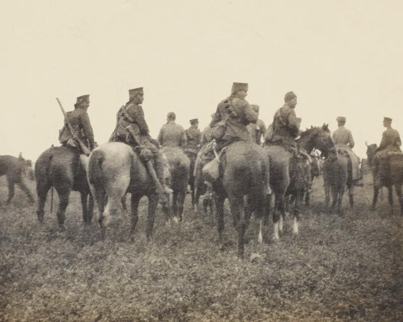 British cavalry at Nery, 1 September 1914