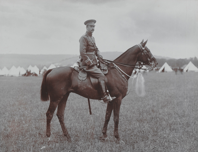 Major A W Parsons, 19th (Queen Alexandra's) Hussars, c1908