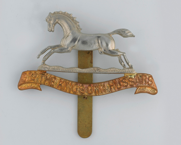 Cap badge, other ranks, 3rd The King's Own Hussars, 1902