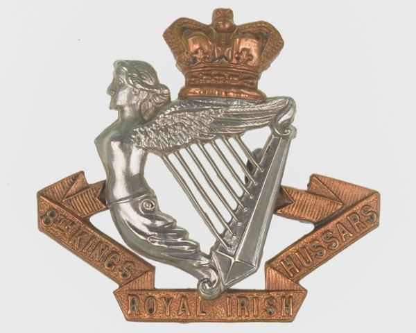 Cap badge, other ranks, 8th (King's Royal Irish) Hussars, c1900