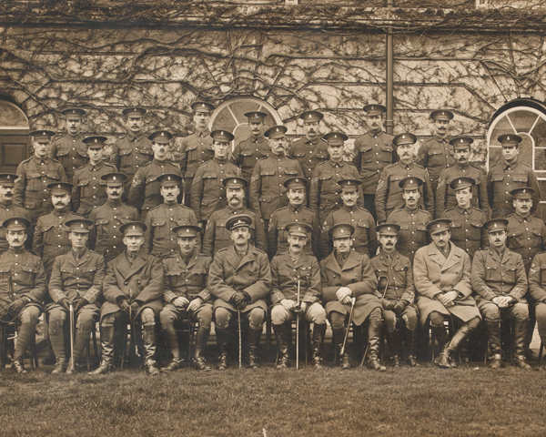 Old members of the 5th Dragoon Guards who re-joined for service in 1914