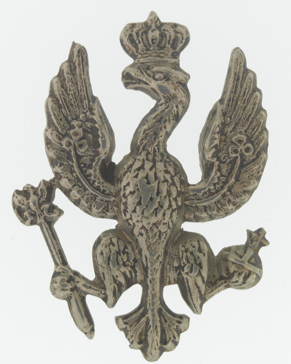 Collar badge, other ranks, 14th (King's) Hussars, c1900