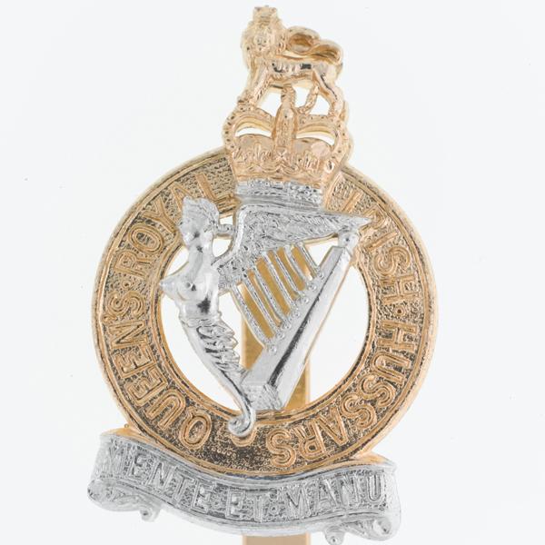 Other ranks' cap badge, Queen's Royal Irish Hussars, c1958