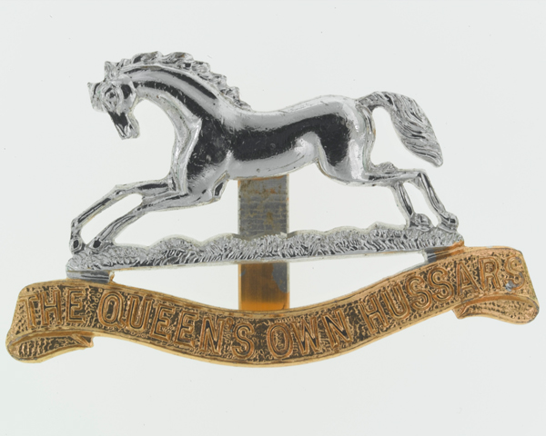 Other ranks' cap badge, TheQueen's Own Hussars, c1960
