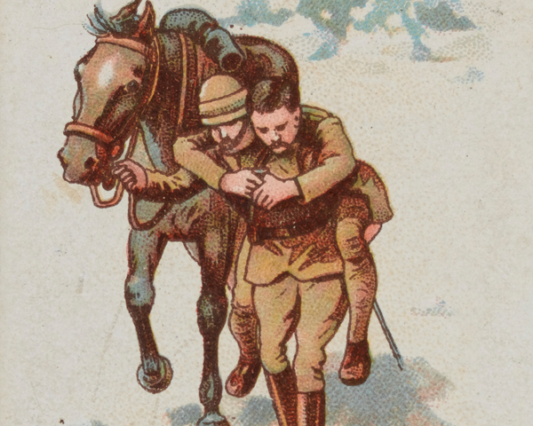 Lieutenant John Norwood, 5th Dragoon Guards, winning the VC in South Africa, 1899