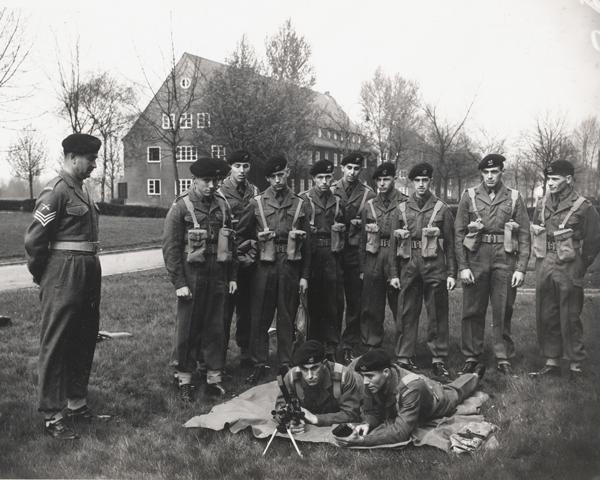 1st Battalion The Buffs training at Moore Barracks, Dortmund, Germany, 1959
