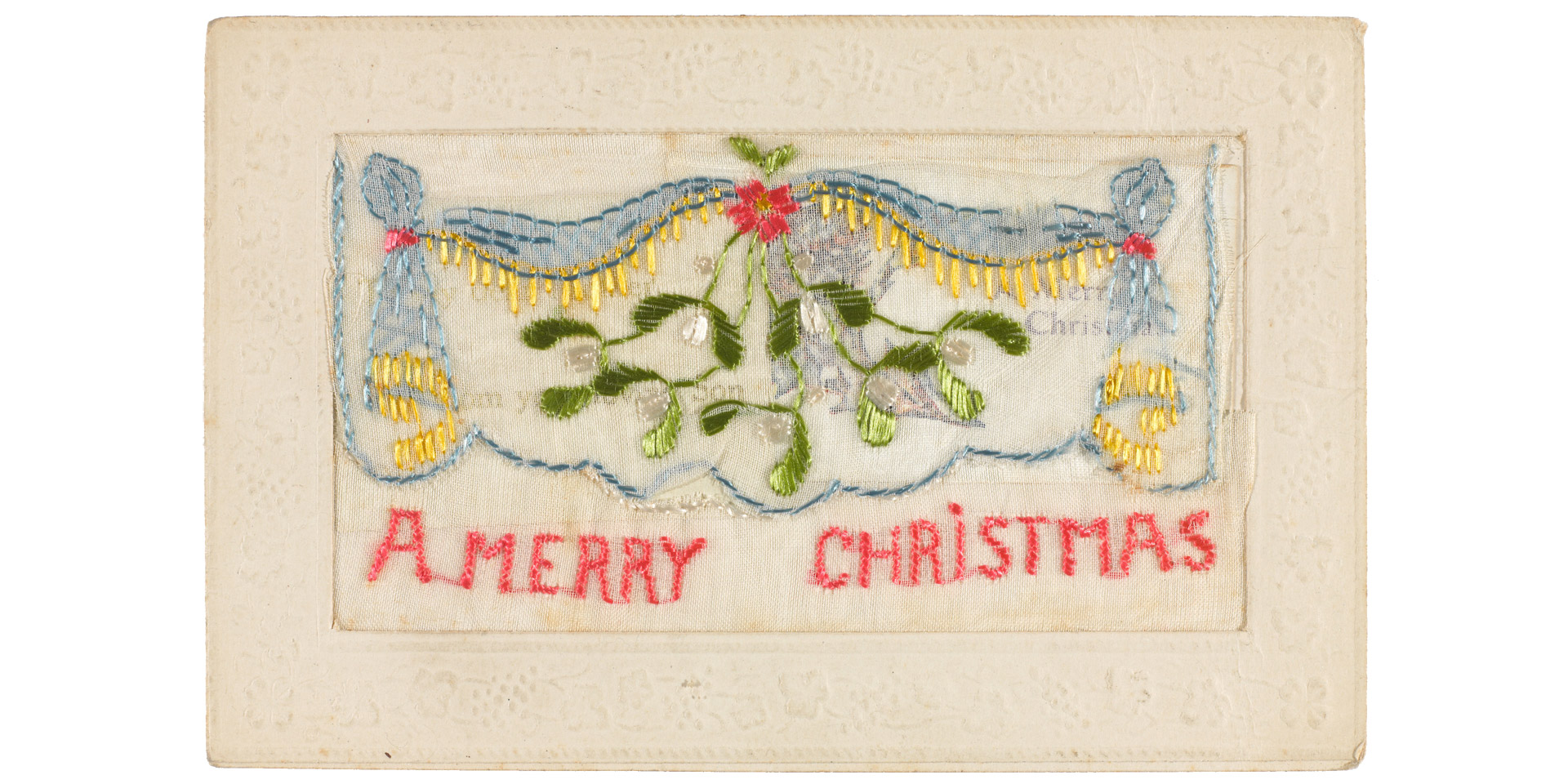 Embroidered Christmas Cards National Army Museum
